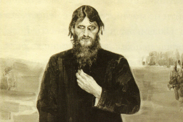 This portrait of Rasputin, looking very much like a Mad Monk, was painted by Alexander Raevsky and commissioned by a female acolyte. Exhibited at the Academy of Fine Arts in 1912, the portrait was lost during the Russian Revolution, but photographs survived. (Photo Credit: Courtesy of Farrar, Straus and Giroux)