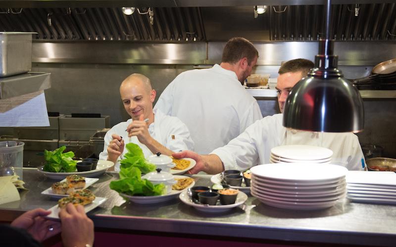 Moxy, Chef Matt Louis on the line. Photo credit: David J. Murray