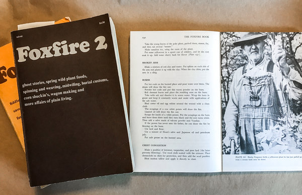 The original Foxfire book series consists of 12 volumes, but there are additional specialty books focusing on cooking, winemaking, religion and music.