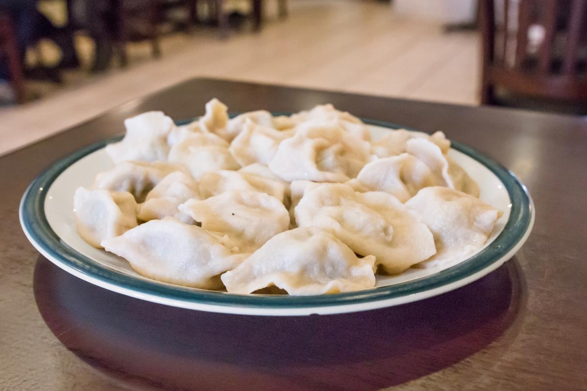 the pork and leek dumplings at qingdao should be eaten in one bitethat is one bite after another because you wont be able to stop at just one - Qingdao Garden