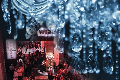 View of the event with chandelier