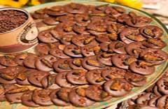 Chocolate-glazed cookies