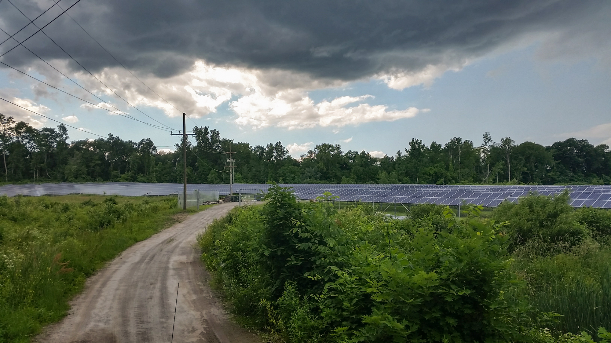 Farmer Kevin Sullivan put solar panels on a portion of his property in Suffield, Conn.
