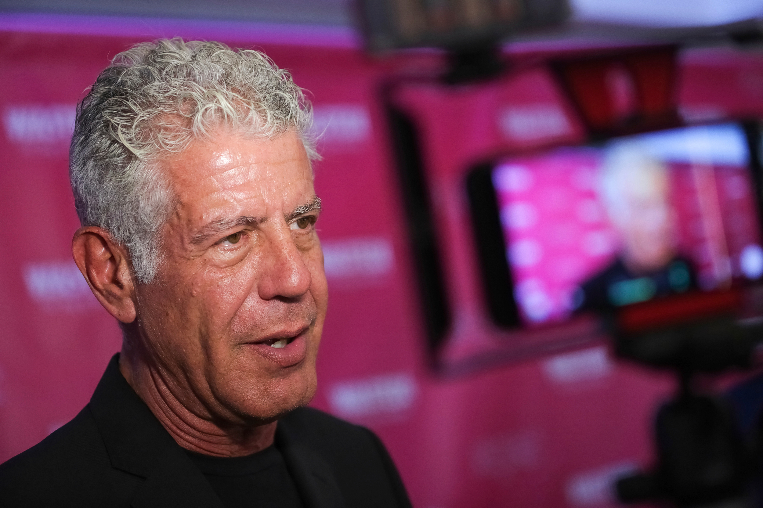 Executive producer and narrator chef Anthony Bourdain attends the premiere of <em>Wasted! The Story of Food Waste</em> in New York City.