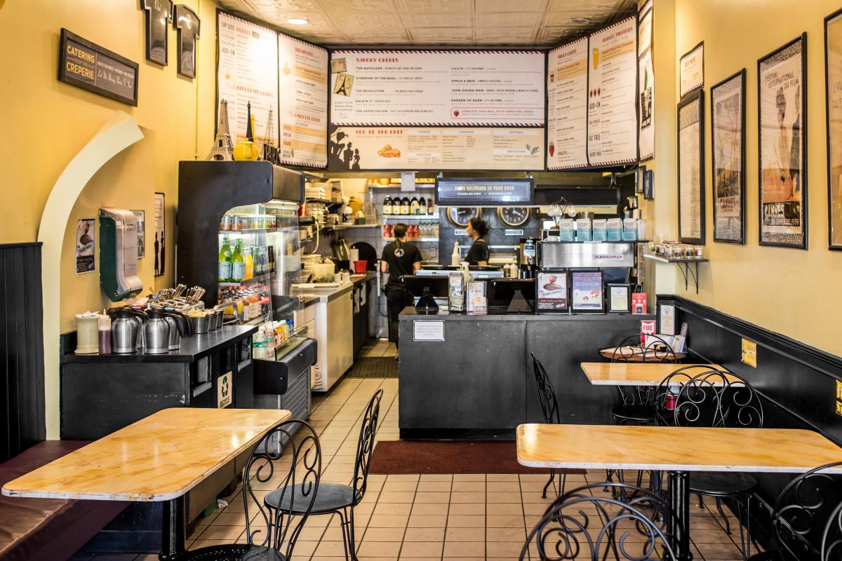 The Interior Of Paris Creperie Always Feels Sunny And European. (Nicole  Fleming)