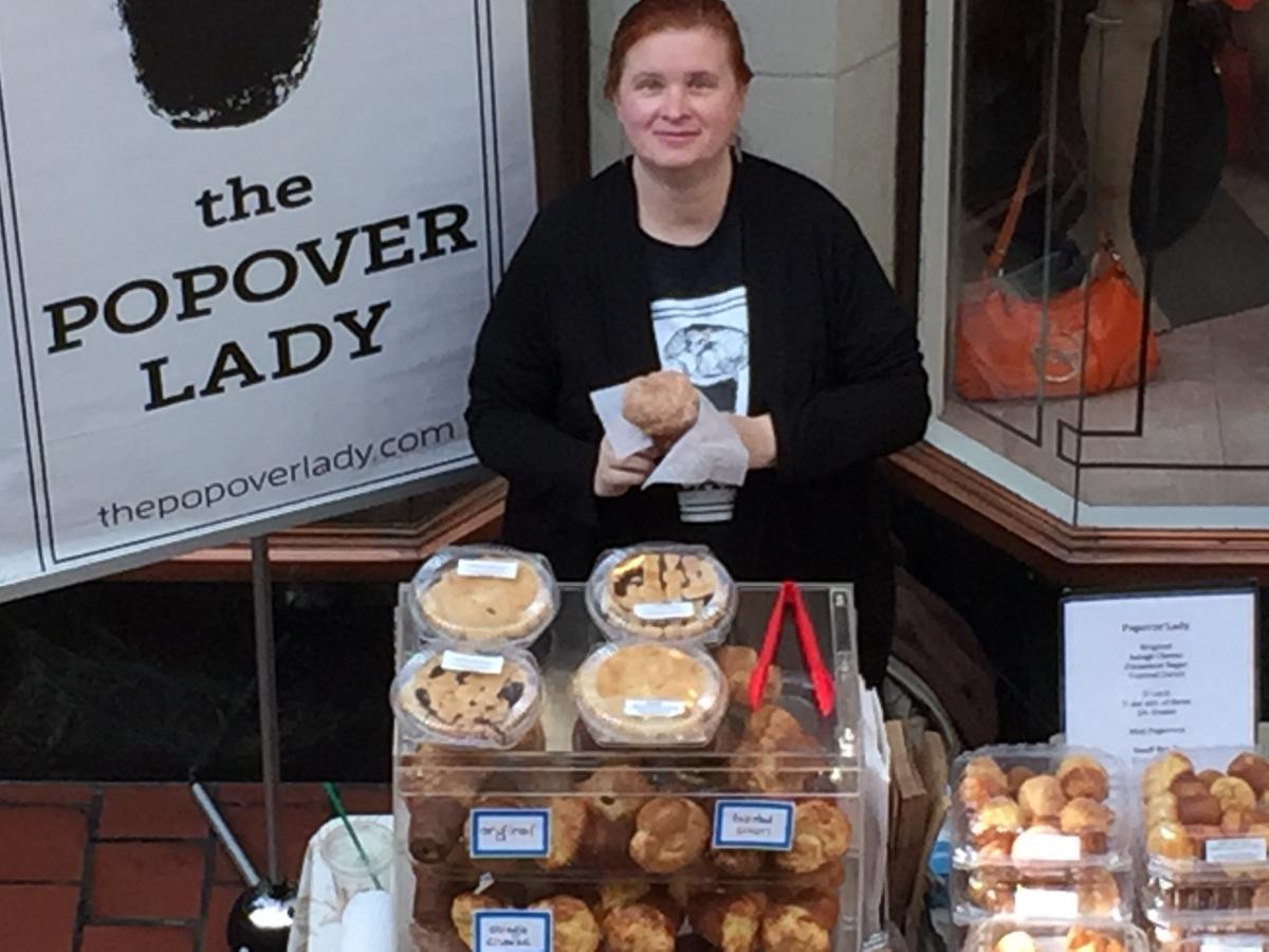 The Popover Lady at the Brookline Winter Market