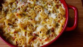 A Classic Baked Pasta Elevated with Crispy Pancetta and Leeks I WGBH I Craving Boston
