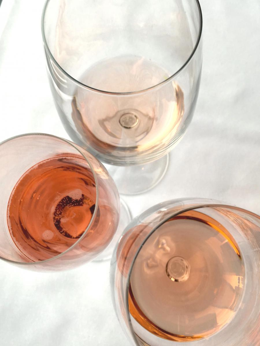 Rosé comes in hues ranging from palest pink to coppery salmon. (Photo: Ellen Bhang)