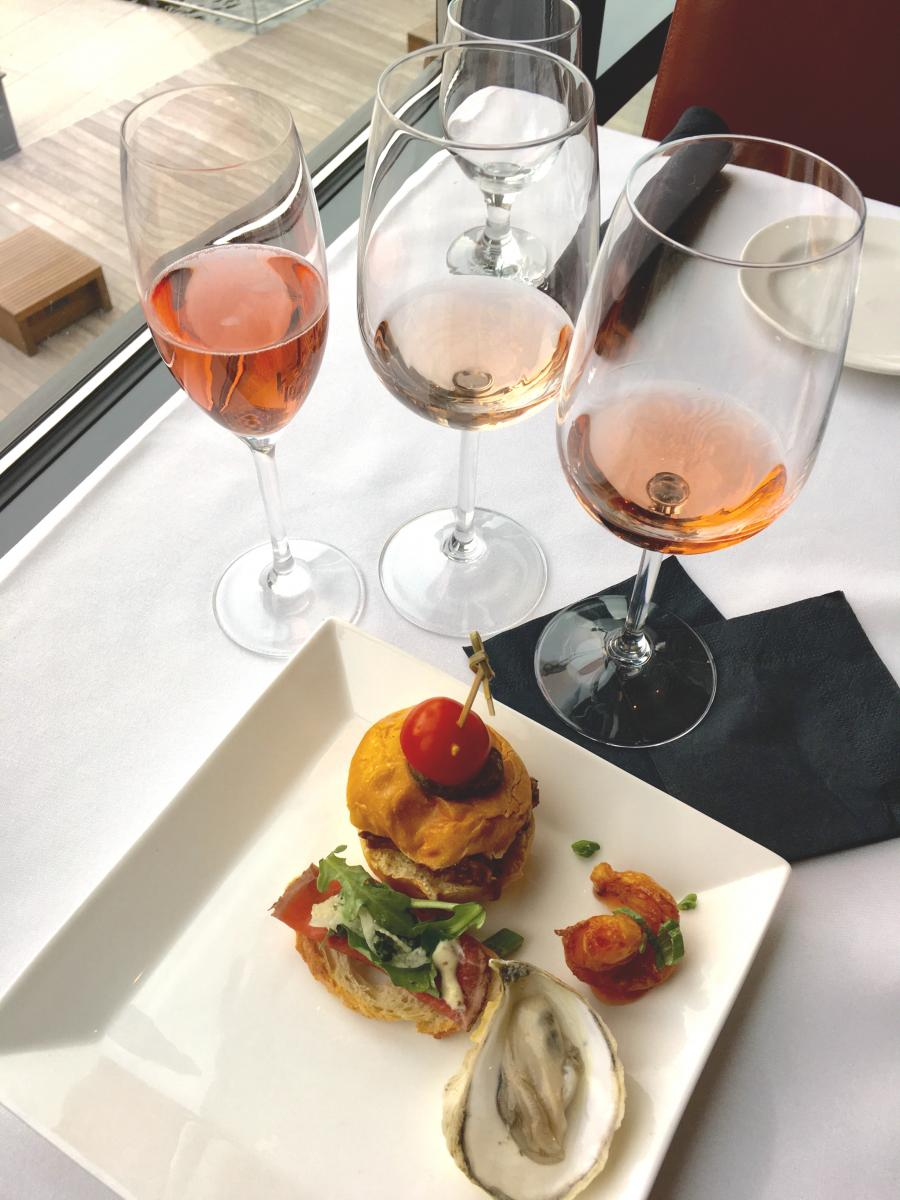 Tasting pink wines side-by-side helps you find pairings that really sing. (Photo: Ellen Bhang)