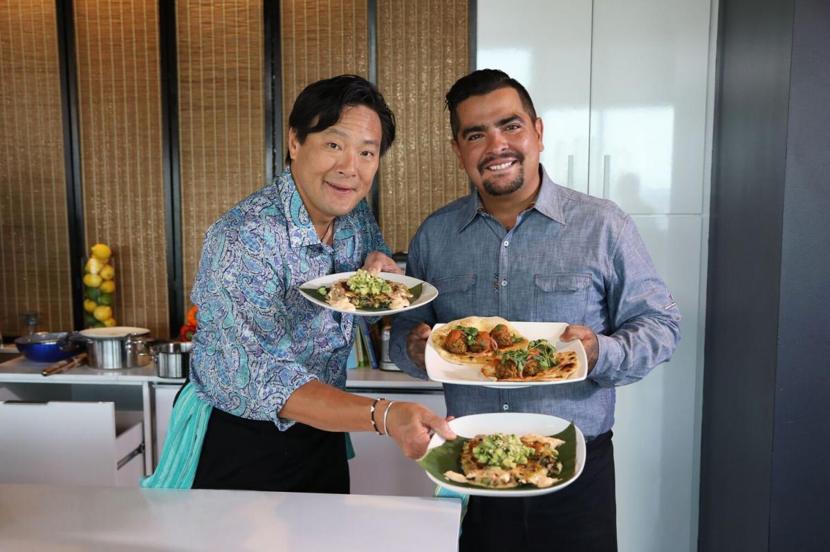 Ming Tsai And Aaron Sanchez Photo John Baynard
