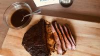 Coffee-Rubbed Flank Steak With Porter-Molasses Pan Sauce